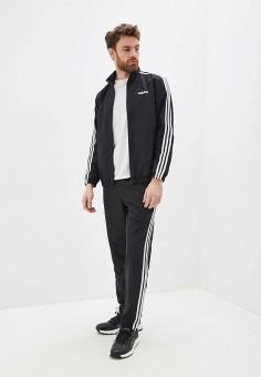 Костюм спортивный, adidas, цвет: черный. Артикул: AD002EMHLPC8. Одежда / Спортивные костюмы