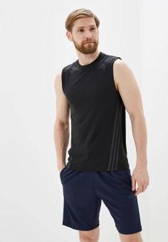 Майка спортивная, adidas, цвет: черный. Артикул: AD002EMHLPX7. Одежда / Майки