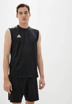 Майка спортивная, adidas, цвет: черный. Артикул: AD002EMHLPY0. Одежда / Майки
