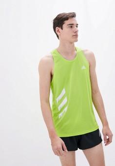 Майка спортивная, adidas, цвет: зеленый. Артикул: AD002EMIIBK7. Одежда / Майки