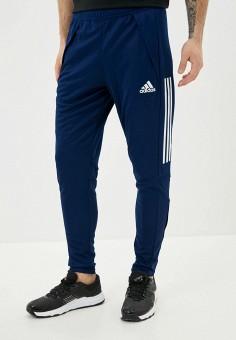Брюки спортивные, adidas, цвет: синий. Артикул: AD002EMIYPI2. Одежда / Брюки / Спортивные брюки