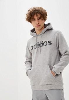 Худи, adidas, цвет: серый. Артикул: AD002EMIYPI5. Одежда / Толстовки и олимпийки / Худи