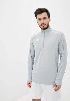Лонгслив спортивный, adidas, цвет: серый. Артикул: AD002EMJFNR4. Одежда / Футболки и поло