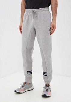 Брюки спортивные, adidas, цвет: серый. Артикул: AD002EMJMMX7. Одежда / Брюки / Спортивные брюки