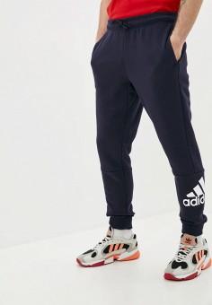 Брюки спортивные, adidas, цвет: синий. Артикул: AD002EMJMNA5. Одежда / Брюки / Спортивные брюки