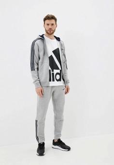 Костюм спортивный, adidas, цвет: серый. Артикул: AD002EMJMNC2. Одежда / Спортивные костюмы