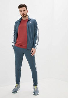 Костюм спортивный, adidas, цвет: синий. Артикул: AD002EMJMNC4. Одежда / Спортивные костюмы