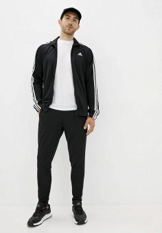 Костюм спортивный, adidas, цвет: черный. Артикул: AD002EMJMNC8. Одежда / Спортивные костюмы