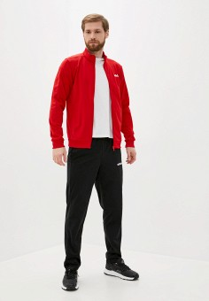 Костюм спортивный, adidas, цвет: красный, черный. Артикул: AD002EMJMND1. Одежда / Спортивные костюмы