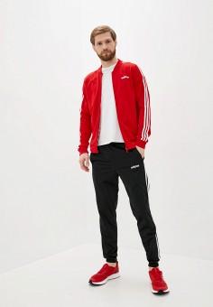 Костюм спортивный, adidas, цвет: красный, черный. Артикул: AD002EMJMND2. Одежда / Спортивные костюмы