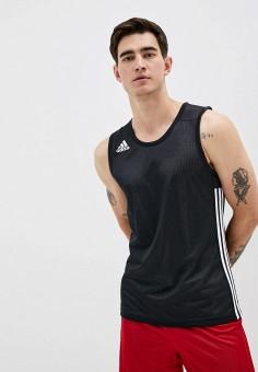 Майка спортивная, adidas, цвет: черный. Артикул: AD002EMJMNK9. Одежда / Майки