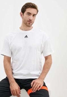 Футболка, adidas, цвет: белый. Артикул: AD002EMJMOR7. Спорт