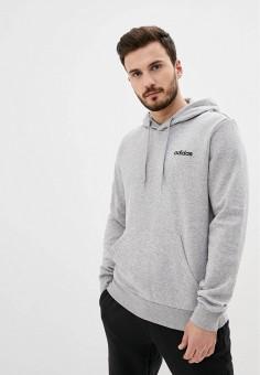 Худи, adidas, цвет: серый. Артикул: AD002EMJMPJ9. Одежда / Толстовки и олимпийки / Худи