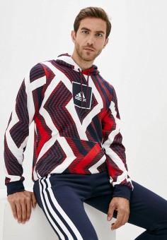 Худи, adidas, цвет: мультиколор. Артикул: AD002EMJMPL2. Одежда / Толстовки и олимпийки / Худи