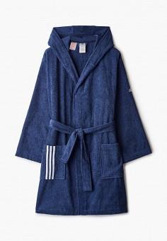 Халат домашний, adidas, цвет: синий. Артикул: AD002EUHLQB9. Одежда / Домашняя одежда