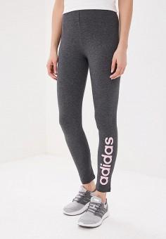 Леггинсы, adidas, цвет: серый. Артикул: AD002EWEGRO7. Одежда / Брюки
