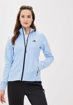 Олимпийка, adidas, цвет: голубой. Артикул: AD002EWFKAG7. Одежда / Толстовки и свитшоты