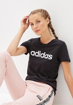 Футболка, adidas, цвет: черный. Артикул: AD002EWFKAR5. Одежда / Футболки и поло