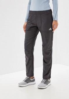 Брюки утепленные, adidas, цвет: серый. Артикул: AD002EWFKSH0. Одежда / Брюки