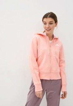 Толстовка, adidas, цвет: розовый. Артикул: AD002EWHLRE1. Одежда / Толстовки и свитшоты