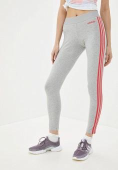 Тайтсы, adidas, цвет: серый. Артикул: AD002EWIIDX2. Одежда / Брюки