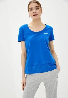 Футболка, adidas, цвет: синий. Артикул: AD002EWIIEB8. Спорт