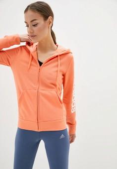 Толстовка, adidas, цвет: коралловый. Артикул: AD002EWJFOB1. Одежда / Толстовки и свитшоты