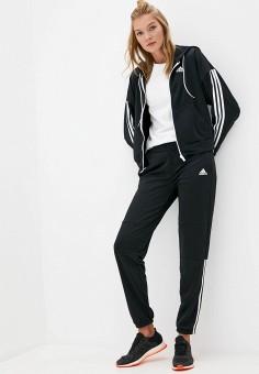 Костюм спортивный, adidas, цвет: черный. Артикул: AD002EWJMST3. Одежда