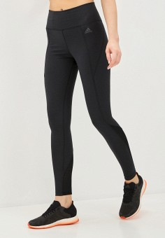 Тайтсы, adidas, цвет: черный. Артикул: AD002EWJMUF6. Одежда / Брюки