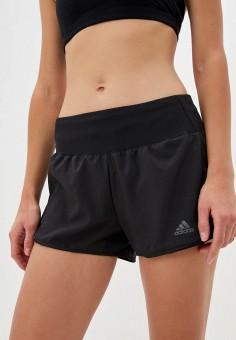 Шорты спортивные, adidas, цвет: черный. Артикул: AD002EWJMVD8. Одежда / Шорты