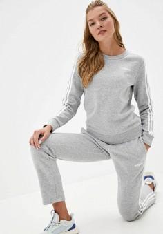 Свитшот, adidas, цвет: серый. Артикул: AD002EWKCJF0. Одежда / Толстовки и свитшоты
