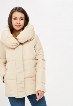 Куртка утепленная, adL, цвет: бежевый. Артикул: AD005EWCJEE4.