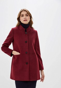 Пальто, adL, цвет: бордовый. Артикул: AD005EWGTDP4.