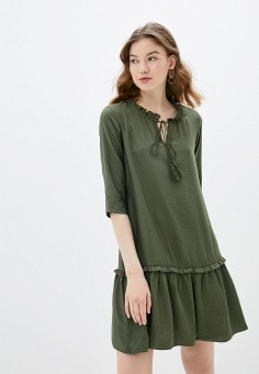 Платье, adL, цвет: хаки. Артикул: AD005EWIPVU8.