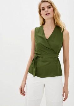 Блуза, adL, цвет: хаки. Артикул: AD005EWJFWY1.