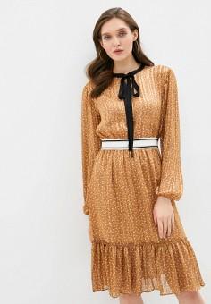 Платье, adL, цвет: коричневый. Артикул: AD005EWJFXA8. Одежда / Платья и сарафаны
