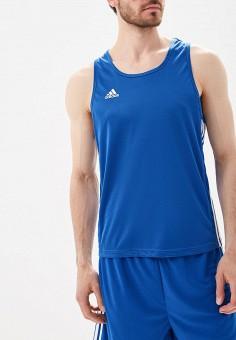 Майка спортивная, adidas Combat, цвет: синий. Артикул: AD015EMBOID1. Одежда / Майки