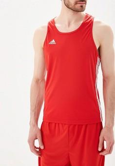 Майка спортивная, adidas Combat, цвет: красный. Артикул: AD015EMBOID2. Одежда / Майки