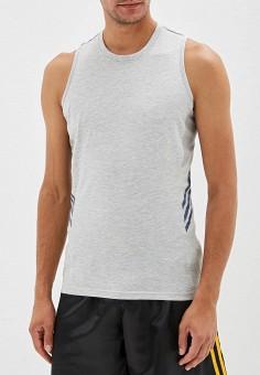 Майка спортивная, adidas Combat, цвет: серый. Артикул: AD015EMFORY2. Одежда / Майки
