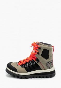 Ботинки, adidas by Stella McCartney, цвет: хаки. Артикул: AD031AWJLVP1. Обувь / Ботинки / Высокие ботинки