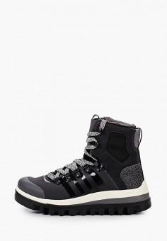 Ботинки, adidas by Stella McCartney, цвет: серый. Артикул: AD031AWJLVP2. Обувь / Ботинки / Высокие ботинки
