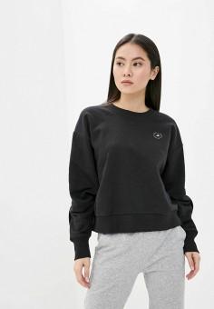Свитшот, adidas by Stella McCartney, цвет: черный. Артикул: AD031EWJLRY5. Одежда / Толстовки и свитшоты