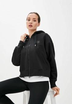 Толстовка, adidas by Stella McCartney, цвет: черный. Артикул: AD031EWJLSA3. Одежда / Толстовки и свитшоты