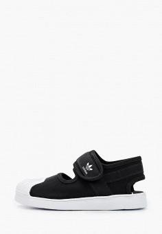 Сандалии, adidas Originals, цвет: черный. Артикул: AD093AKHZVZ3. Девочкам / Спорт