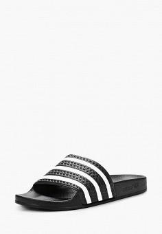 Сланцы, adidas Originals, цвет: черный. Артикул: AD093AMBJU33.