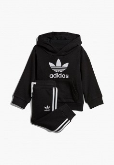 Костюм спортивный, adidas Originals, цвет: черный. Артикул: AD093EBEDUO7.