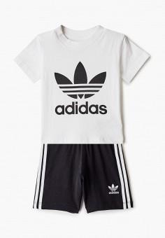 Костюм спортивный, adidas Originals, цвет: белый, черный. Артикул: AD093EBIALQ3. Новорожденным / Одежда