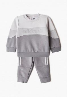 Костюм спортивный, adidas Originals, цвет: серый. Артикул: AD093EBJLVR7.