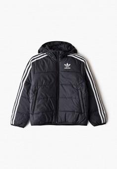 Куртка утепленная, adidas Originals, цвет: черный. Артикул: AD093EBJLVS5. Мальчикам / Одежда / Верхняя одежда