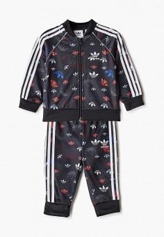 Костюм спортивный, adidas Originals, цвет: черный. Артикул: AD093EBJLVV0.